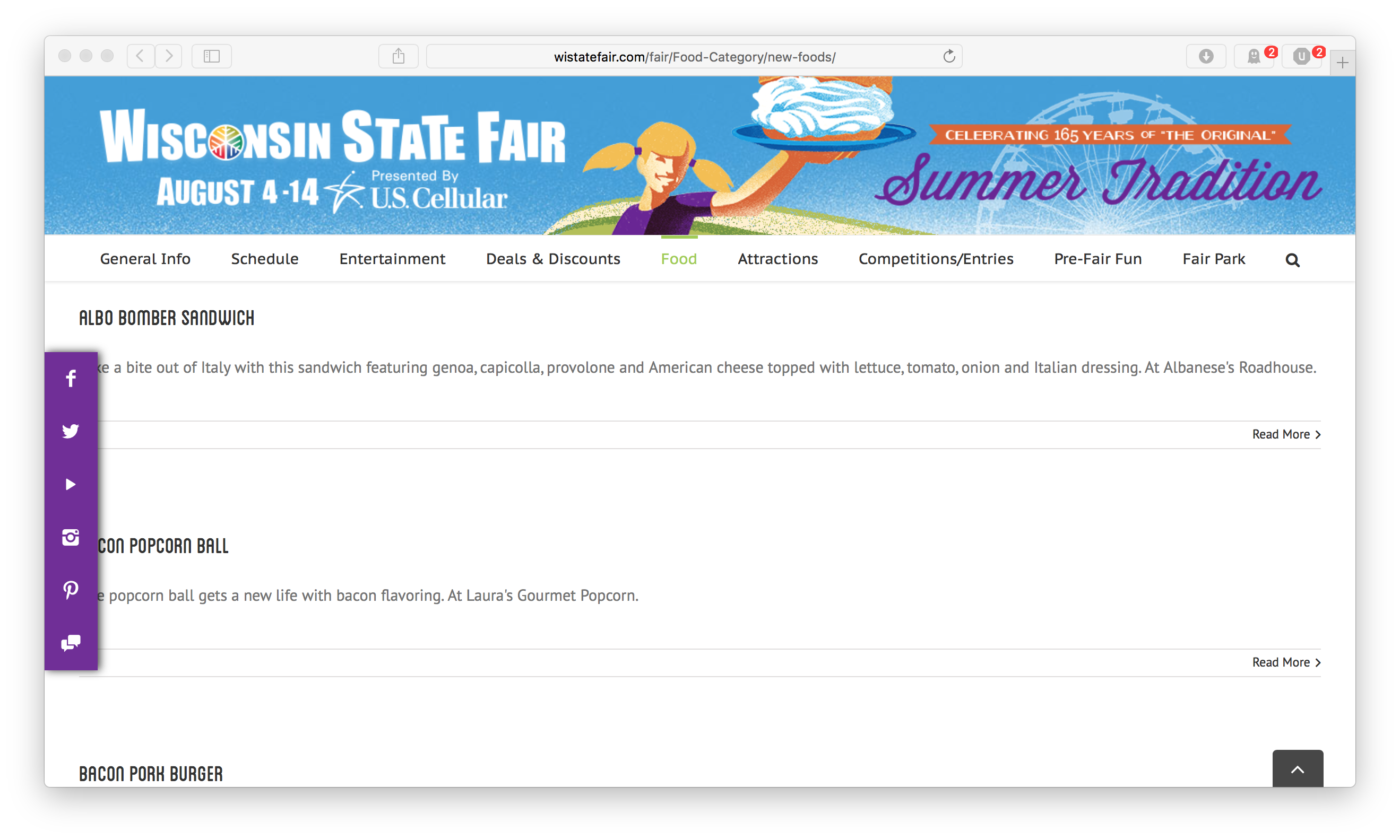 Picture of state fair website